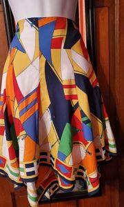 Multi color scarf bottom skirt